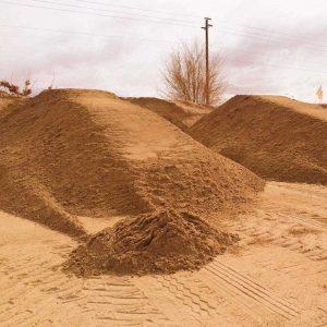 природный песок для строительных работ